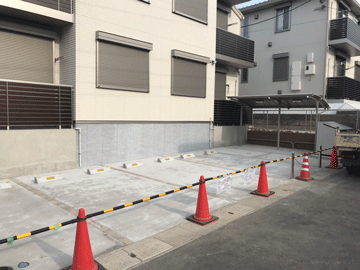 アパートの駐車場工事